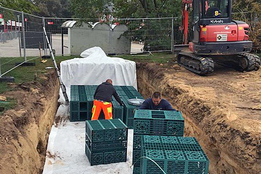 Sedimentationsanlage Kanalbau